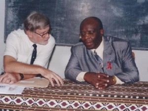 Kinshasa: discussion with Minister during workshop